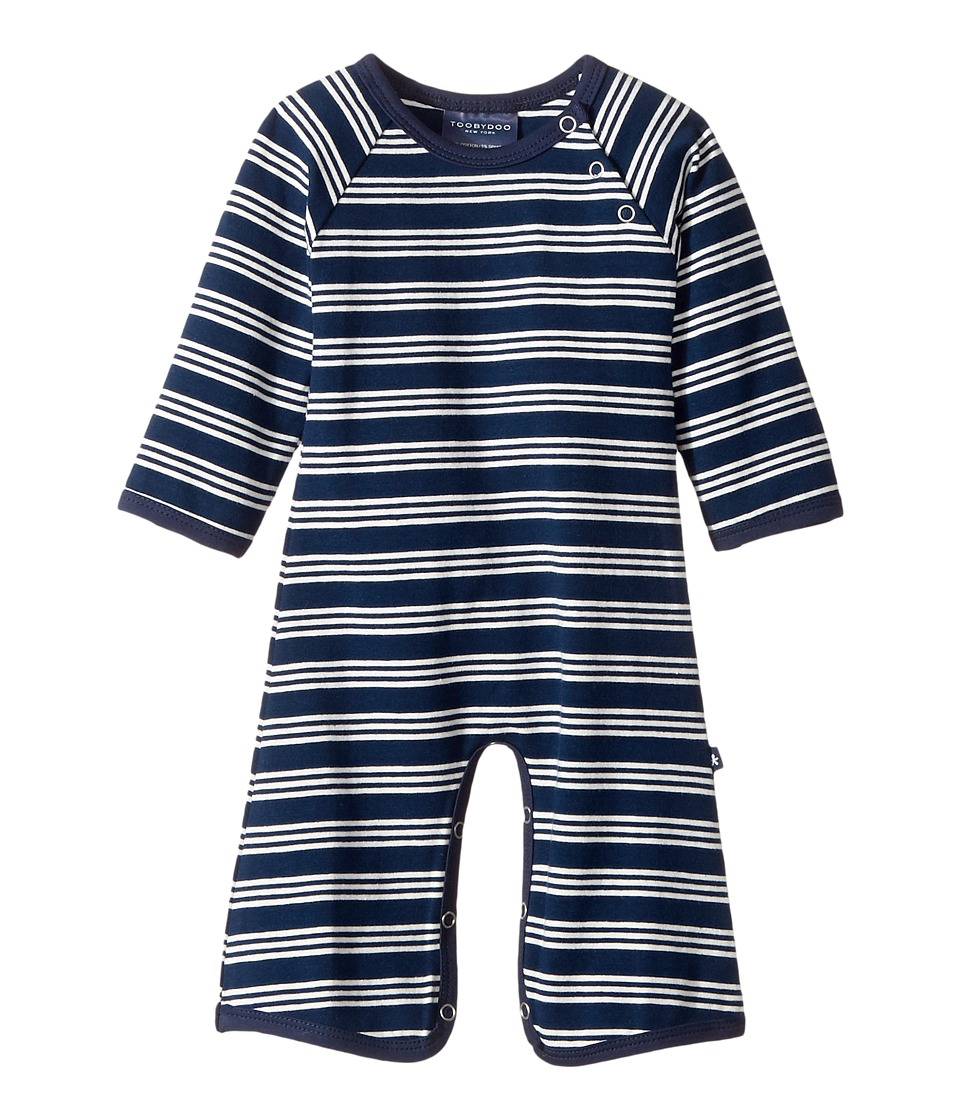 Toobydoo - French Stripe Jersey Knit Bootcut Jumpsuit (Infant) (Navy/White) Boy's Jumpsuit & Rompers One Piece