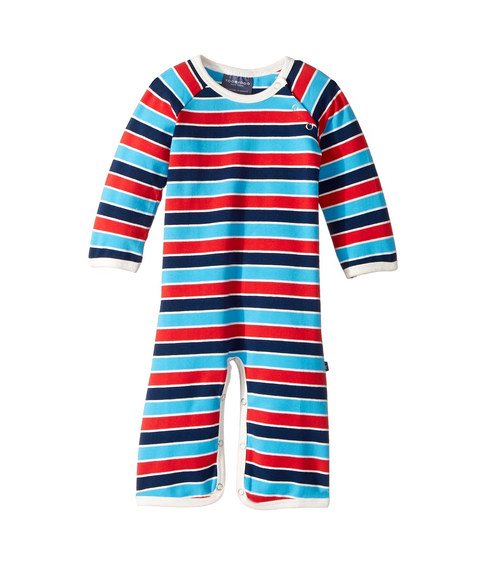 Toobydoo - Jersey Knit Bootcut Jumpsuit (Infant) (Blue/Navy/Red) Boy's Jumpsuit & Rompers One Piece