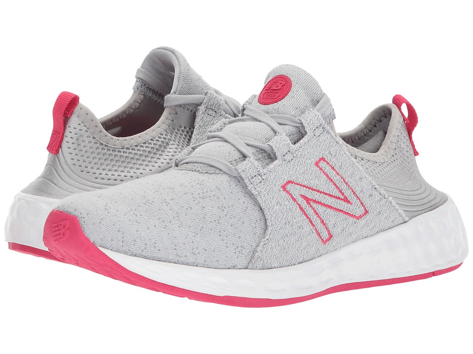 New Balance Kids KJCRZv1G (Big Kid) (Silver Mink/Magnetic Pink) Girls Shoes