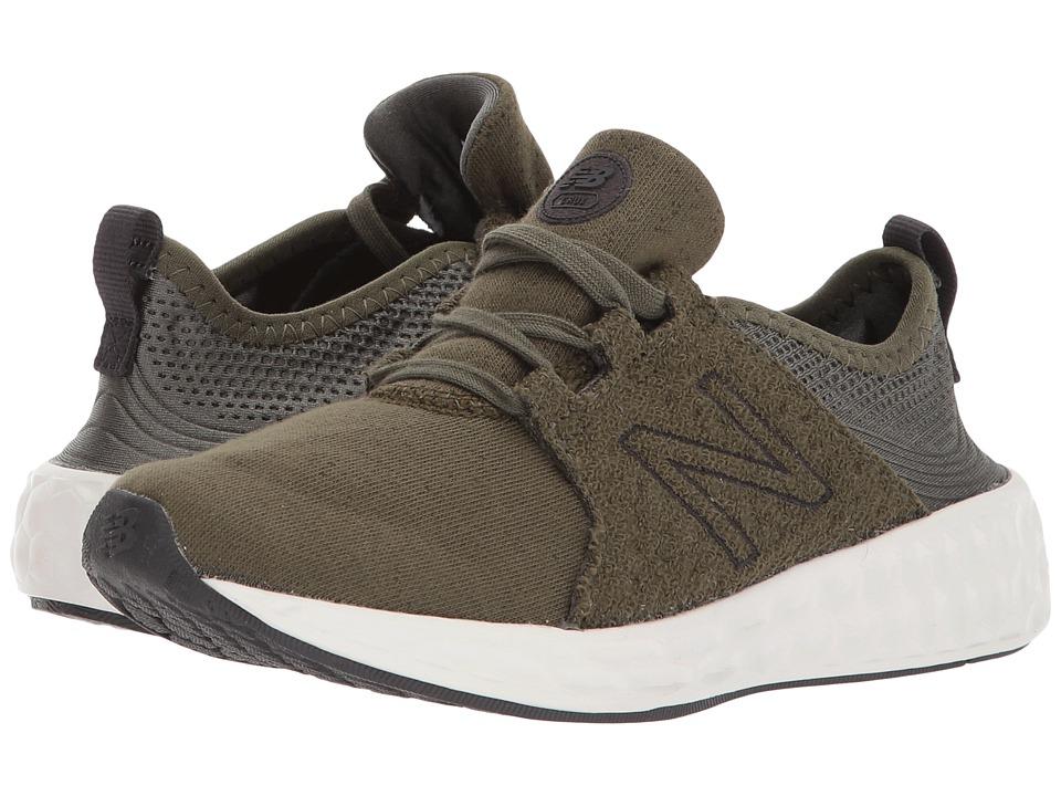 New Balance Kids KJCRZv1P (Little Kid) (Olive/Phantom) Boys Shoes