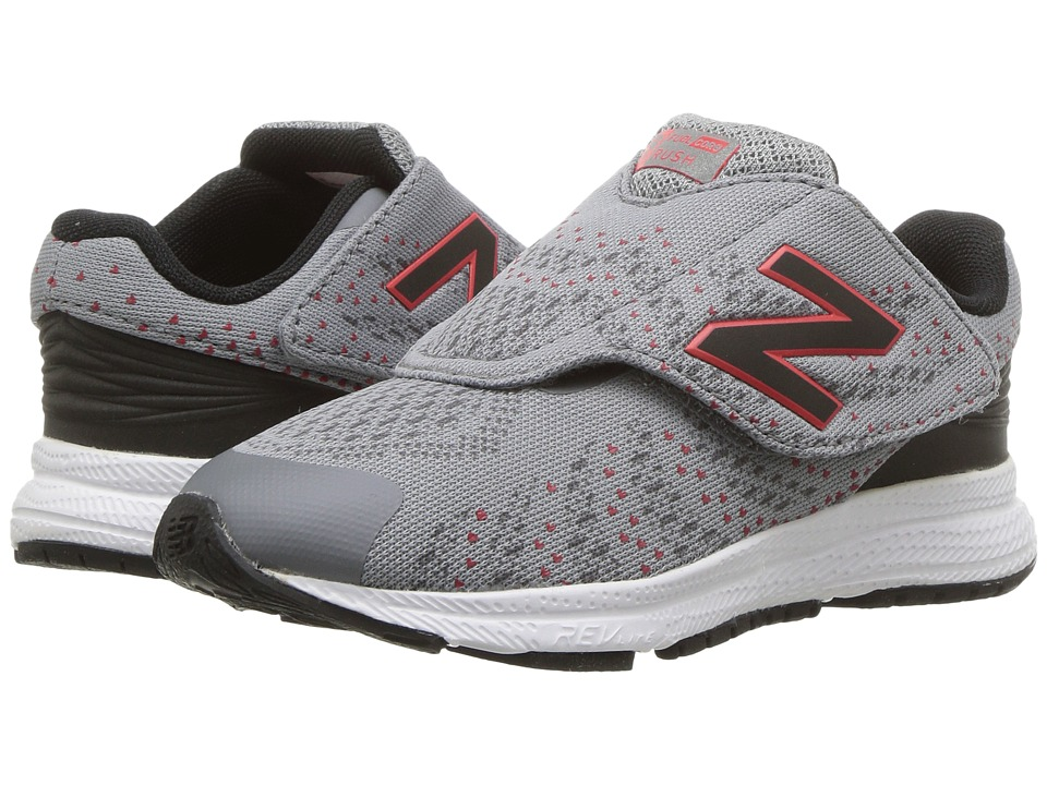 New Balance Kids Hook and Loop FuelCore Rush v3 (Infant/Toddler) (Grey/Black) Boys Shoes