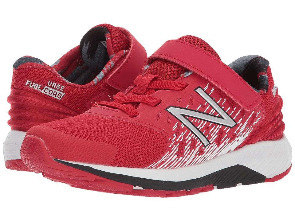 New Balance Kids KVURGv2P (Little Kid) (Red/Black) Boys Shoes