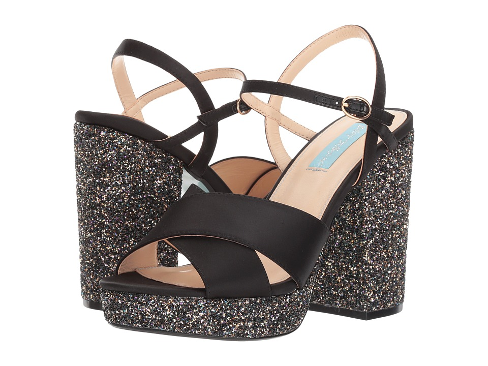 Blue by Betsey Johnson Ollie (Black Satin) Women