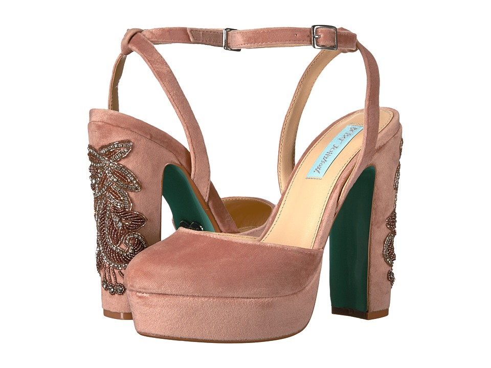 Blue by Betsey Johnson Alana (Blush Velvet) High Heels