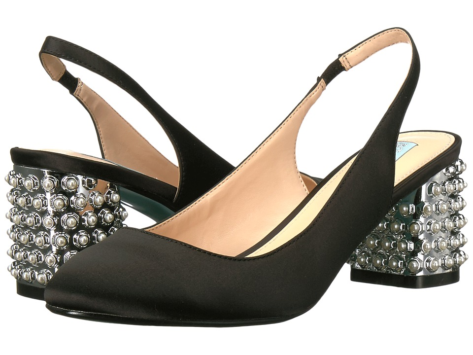 Blue by Betsey Johnson Cori (Black Satin) Women