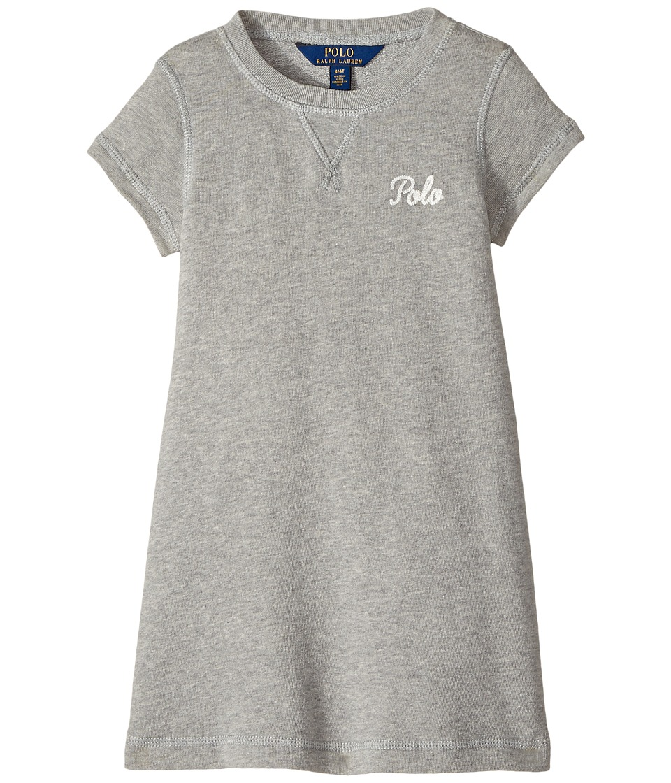 Polo Ralph Lauren Kids - French Terry T-Shirt Dress (Toddler) (Andover Heather) Girl's Dress