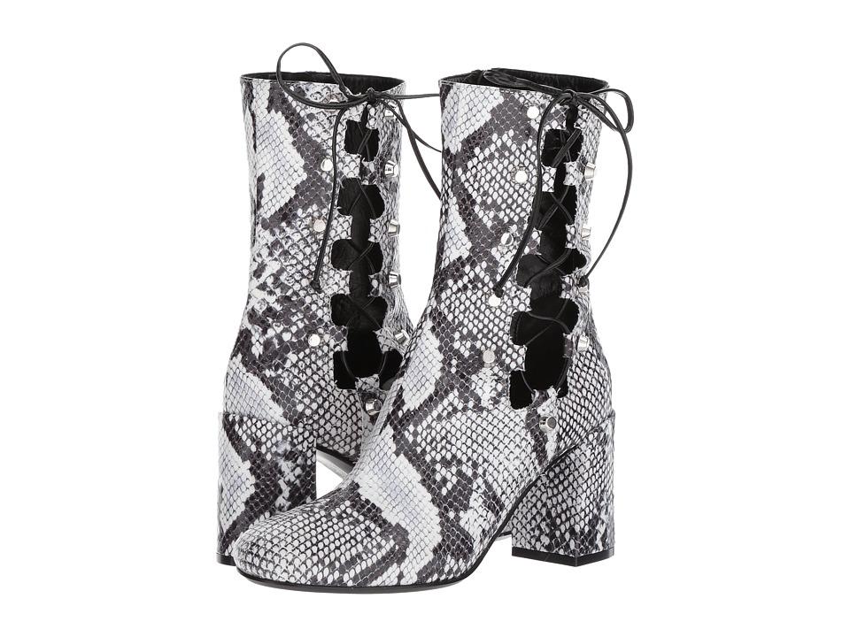 McQ - Side Lace Pembury Bootie (White/Black) Women's Boots