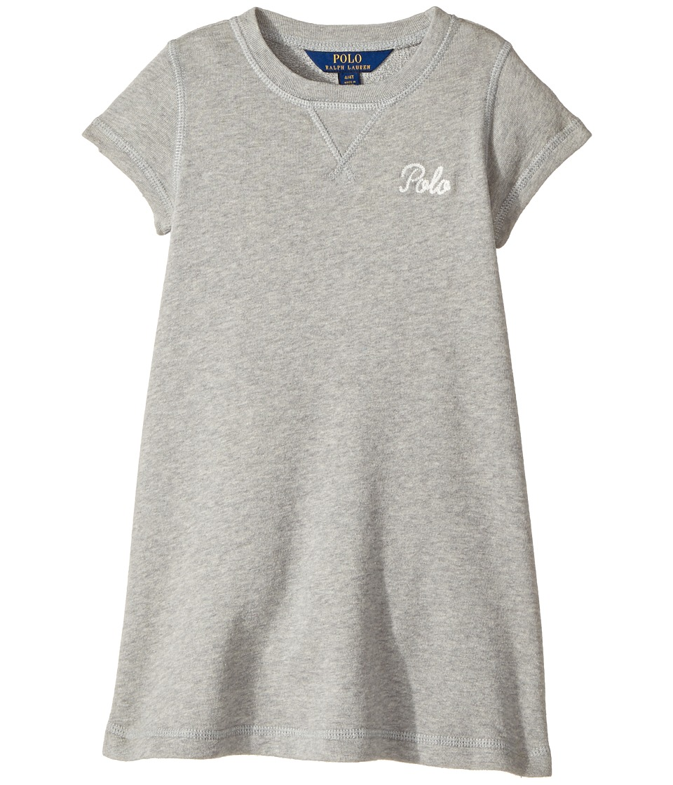 Polo Ralph Lauren Kids - French Terry T-Shirt Dress (Little Kids) (Andover Heather) Girl's Dress
