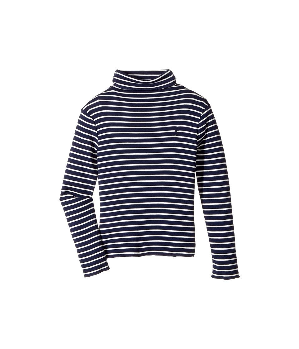 Polo Ralph Lauren Kids - Striped Turtleneck Shirt (Little Kids) (Newport Navy/Nevis) Girl's Clothing