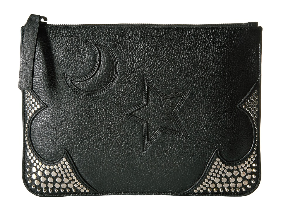 McQ Large Pouch (Black) Clutch Handbags
