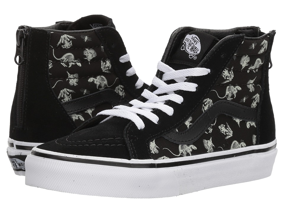 Vans Kids Sk8-Hi Zip (Little Kid/Big Kid) ((X-Ray Vision) Black/True White) Boys Shoes