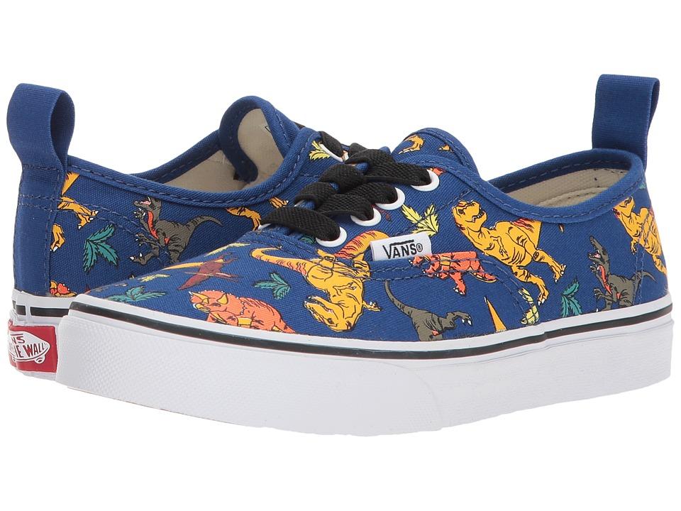 Vans Kids Authentic Elastic Lace (Little Kid/Big Kid) ((Dinosaur) Multi/True White) Boys Shoes