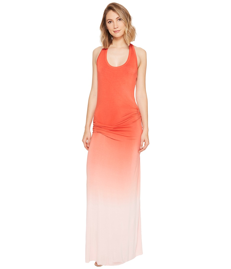 Young Fabulous & Broke - Hamptons Maxi Dress (Hot Orange/Ombre) Women's Dress