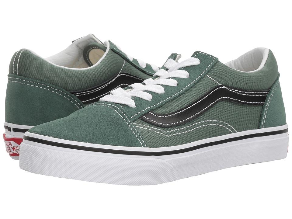 Vans Kids Old Skool (Little Kid/Big Kid) (Duck Green/Black) Boys Shoes