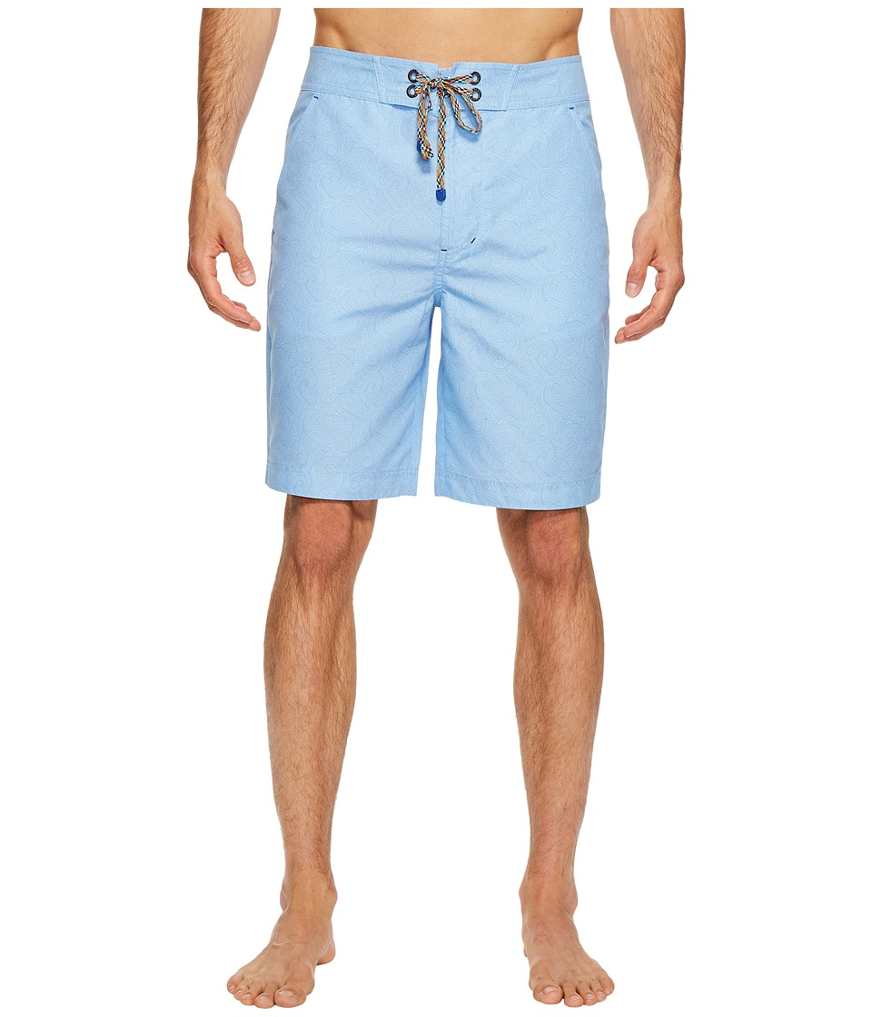 Robert Graham - Muscle Beach Shorts (Light Blue) Men's Swimwear