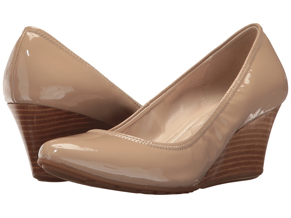 Cole Haan Emory Luxe Wedge 65mm II (Maple Sugar Patent/Stacked) Women