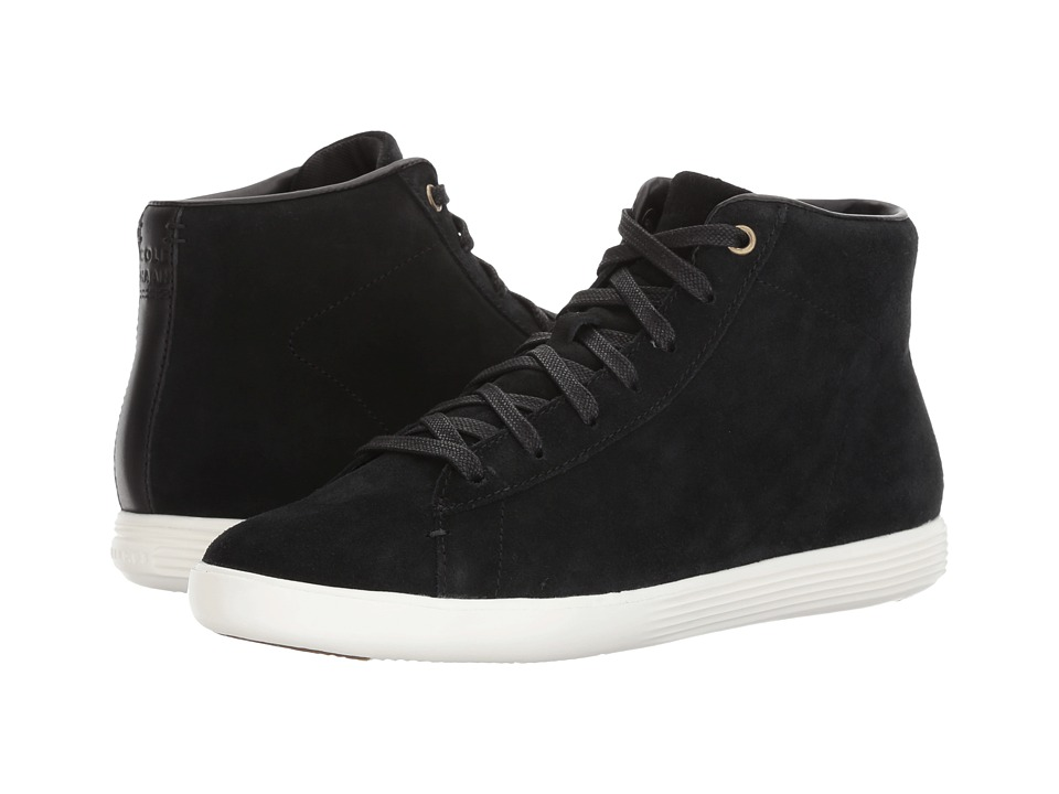 Cole Haan - Grand Crosscourt High Top (Black Suede) Women's Shoes