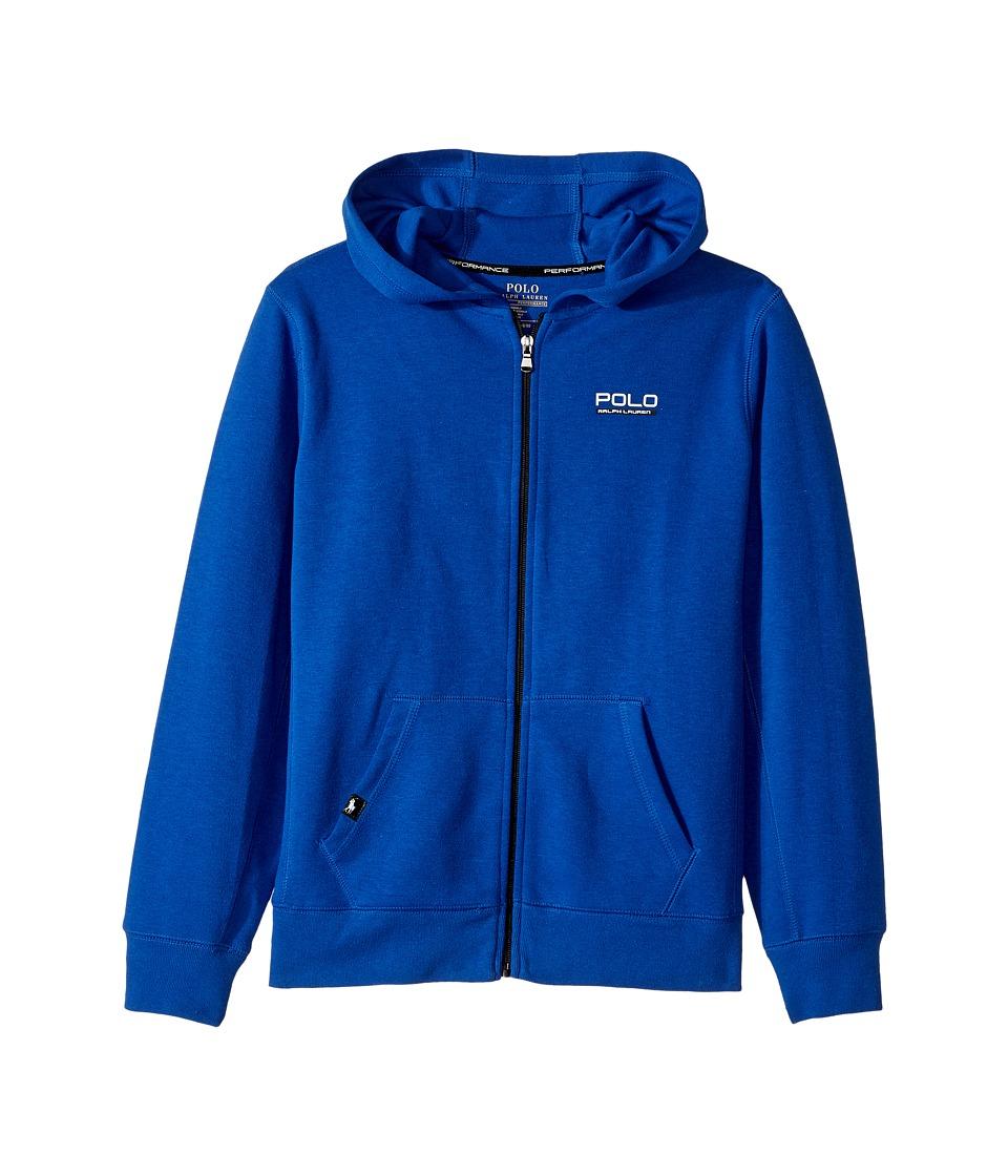 Polo Ralph Lauren Kids - Tech Fleece Full Zip Hoodie (Big Kids) (Sapphire Star) Boy's Sweatshirt