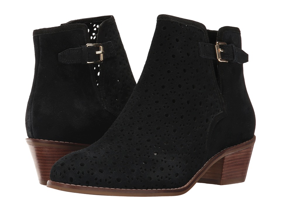 Cole Haan - Willette Perf Bootie II (Black Suede) Women's Shoes