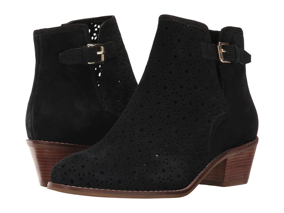 Cole Haan - Willette Perf Bootie II (Black Suede) Women's Shoes