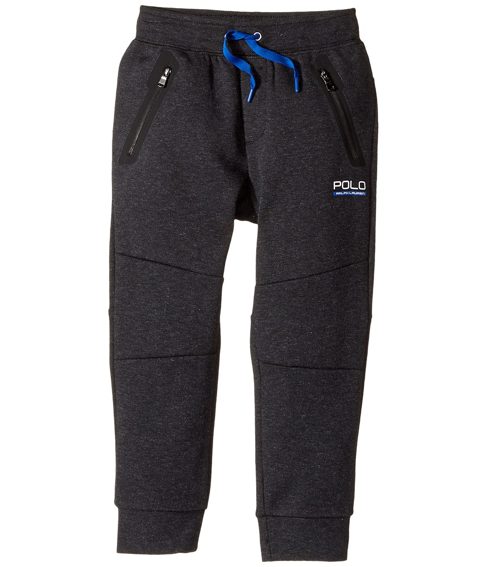 Polo Ralph Lauren Kids - Tech Fleece Pants (Little Kids) (Black Marl Heather) Boy's Casual Pants