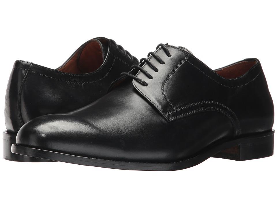 Massimo Matteo 5-Eye Plain Toe Blucher (Black) Men