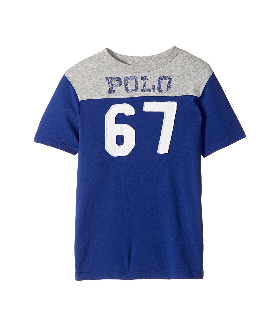 Polo Ralph Lauren Kids - Cotton Jersey Graphic T-Shirt (Big Kids) (Royal American) Boy's T Shirt
