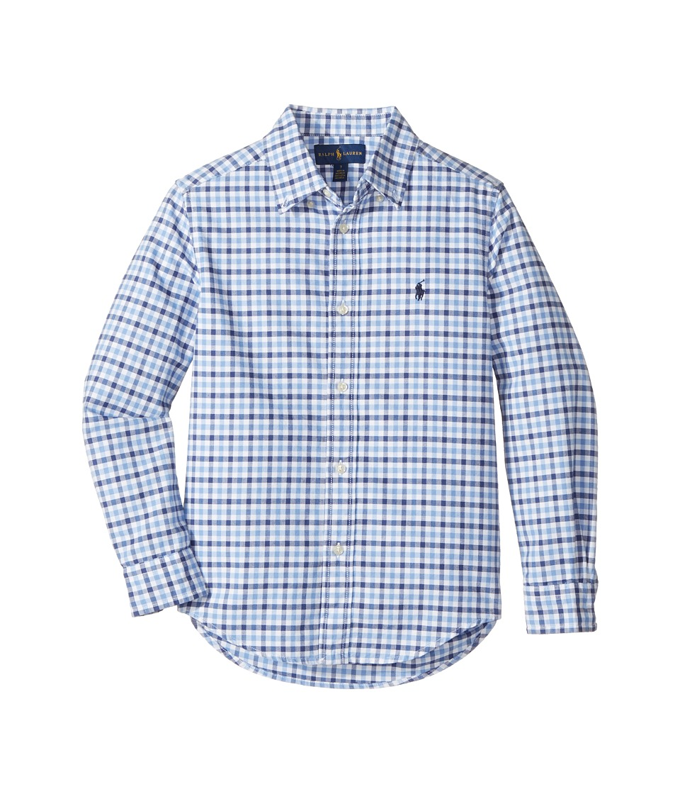 Polo Ralph Lauren Kids - Checked Cotton Oxford Shirt (Little Kids/Big Kids) (Blue Multi) Boy's Clothing