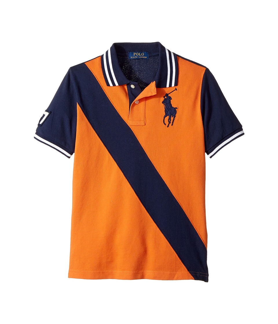 Polo Ralph Lauren Kids - Banner Cotton Mesh Polo (Big Kids) (French Navy) Boy's Clothing