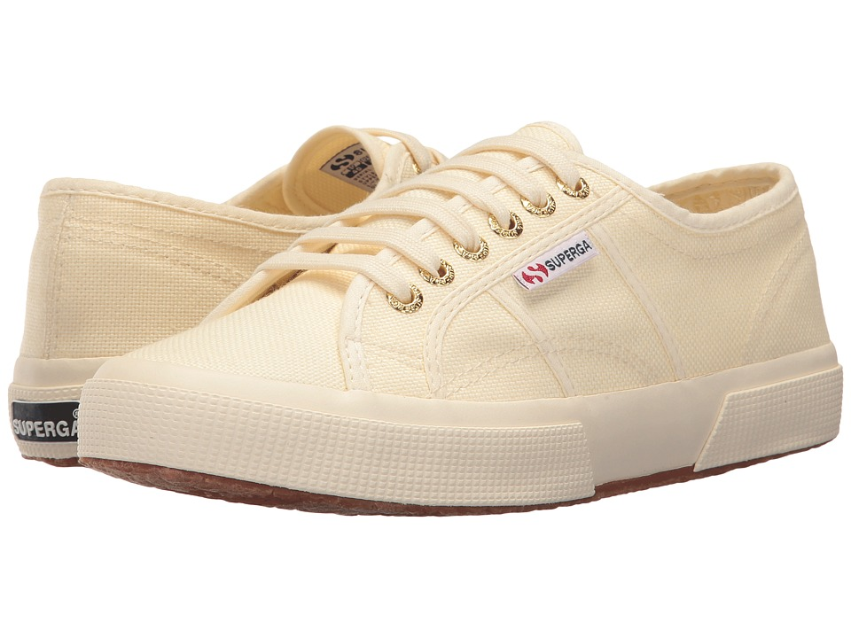 Superga - 2750 COTU Classic (Ivory/Gold) Women's Lace up casual Shoes
