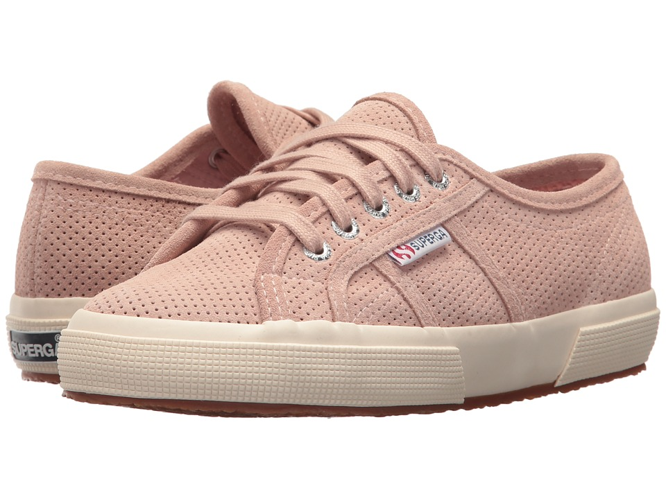 Superga - 2750 Perf (Pink) Women's Lace up casual Shoes