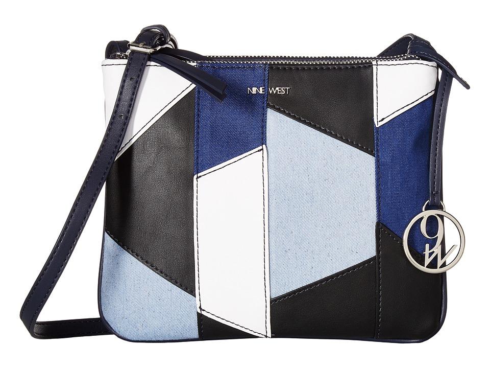 Nine West - Helda (Moody Blue/Chalk/Moody Blue) Handbags