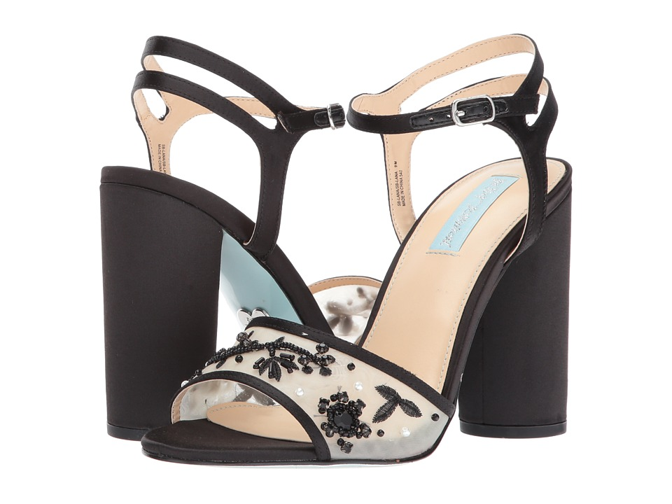 Blue by Betsey Johnson Lana (Black Satin) High Heels