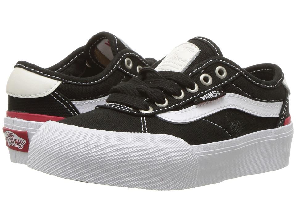 Vans Kids Chima Pro 2 (Little Kid/Big Kid) ((Canvas) Black/White) Boys Shoes