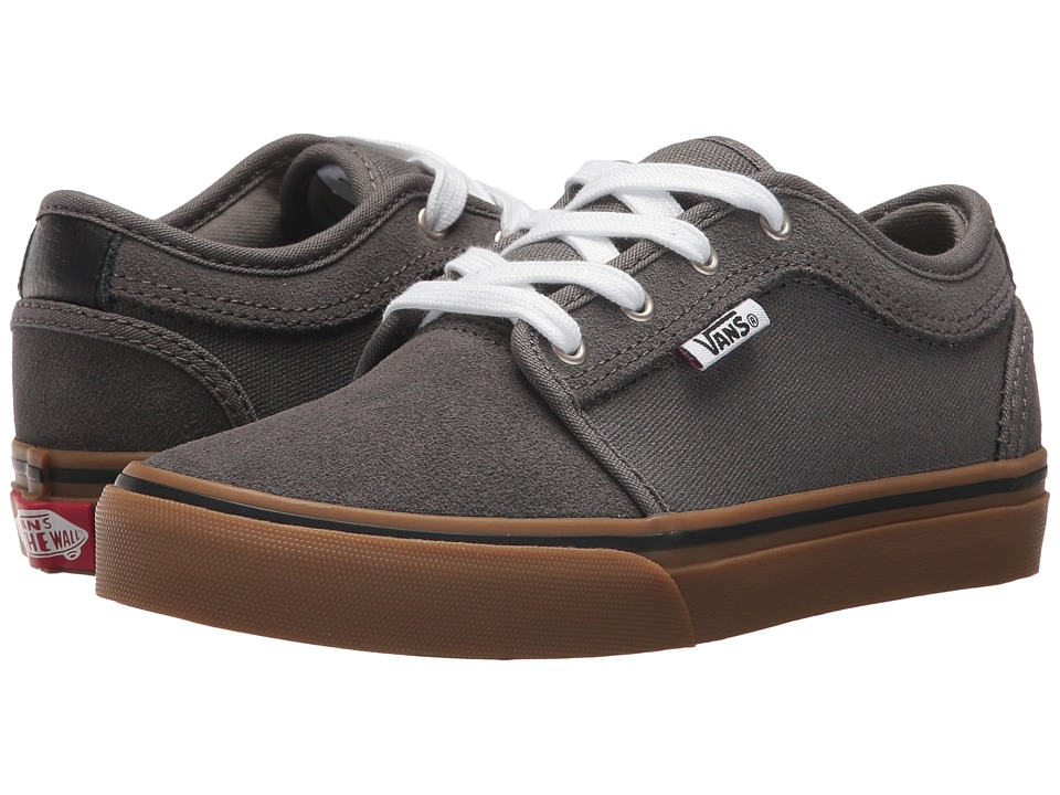 Vans Kids - Chukka Low (Little Kid/Big Kid) (Pewter/White/Gum) Boys Shoes
