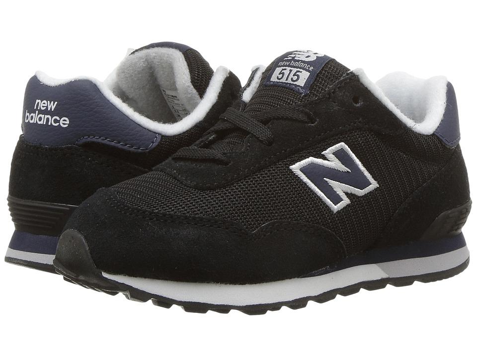 New Balance Kids KL515v1I (Infant/Toddler) (Black/Navy) Boys Shoes