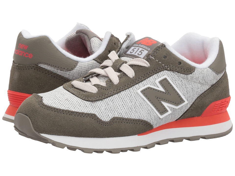 New Balance Kids KL515v1Y (Little Kid/Big Kid) (Green/Flame) Boys Shoes