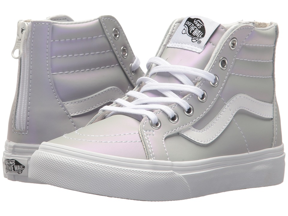 Vans Kids Sk8-Hi Zip (Little Kid/Big Kid) ((Muted Metallic) Gray/Violet) Girls Shoes