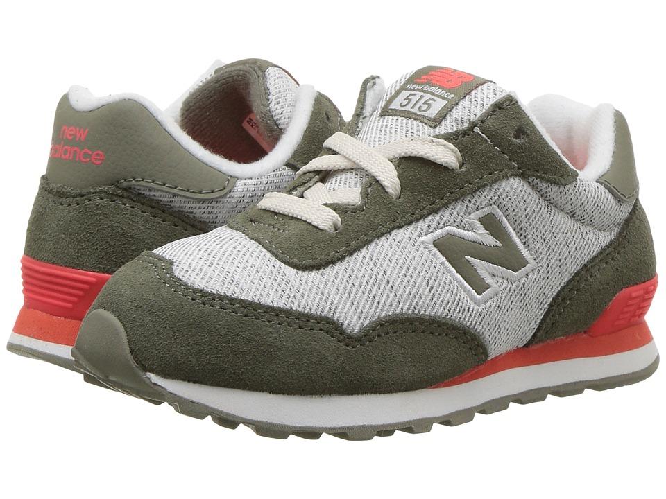 New Balance Kids KL515v1I (Infant/Toddler) (Green/Flame) Boys Shoes