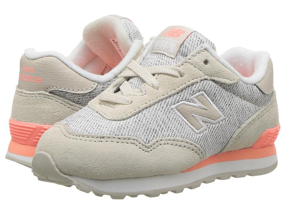 New Balance Kids KL515v1I (Infant/Toddler) (Moonbeam/Fiji) Girls Shoes