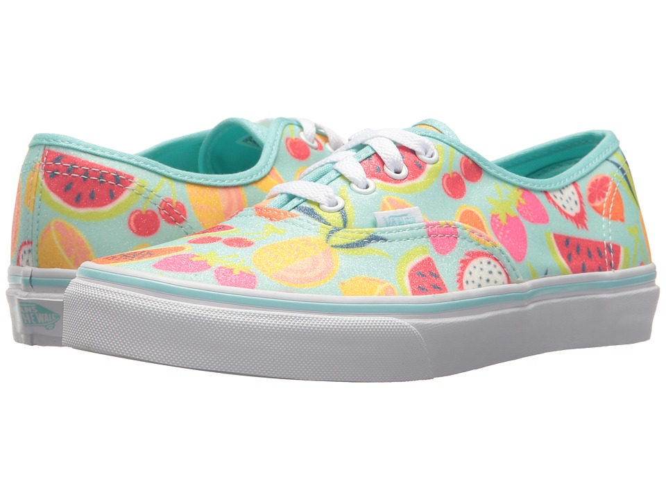 Vans Kids - Authentic (Little Kid/Big Kid) ((Glitter Fruits) Island Paradise/True White) Girls Shoes