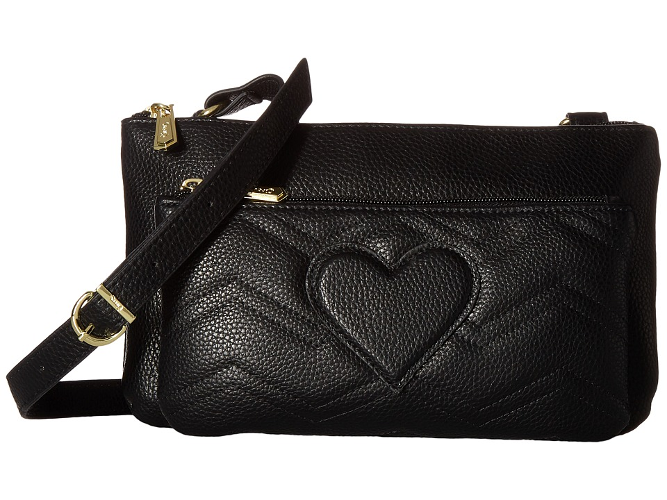 Circus by Sam Edelman - Jenna Double Zipper Passport (Black) Cross Body Handbags