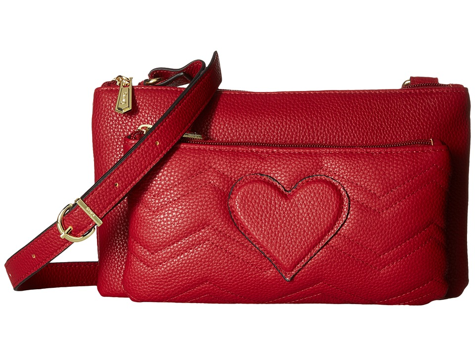 Circus by Sam Edelman - Jenna Double Zipper Passport (Passion Red) Cross Body Handbags