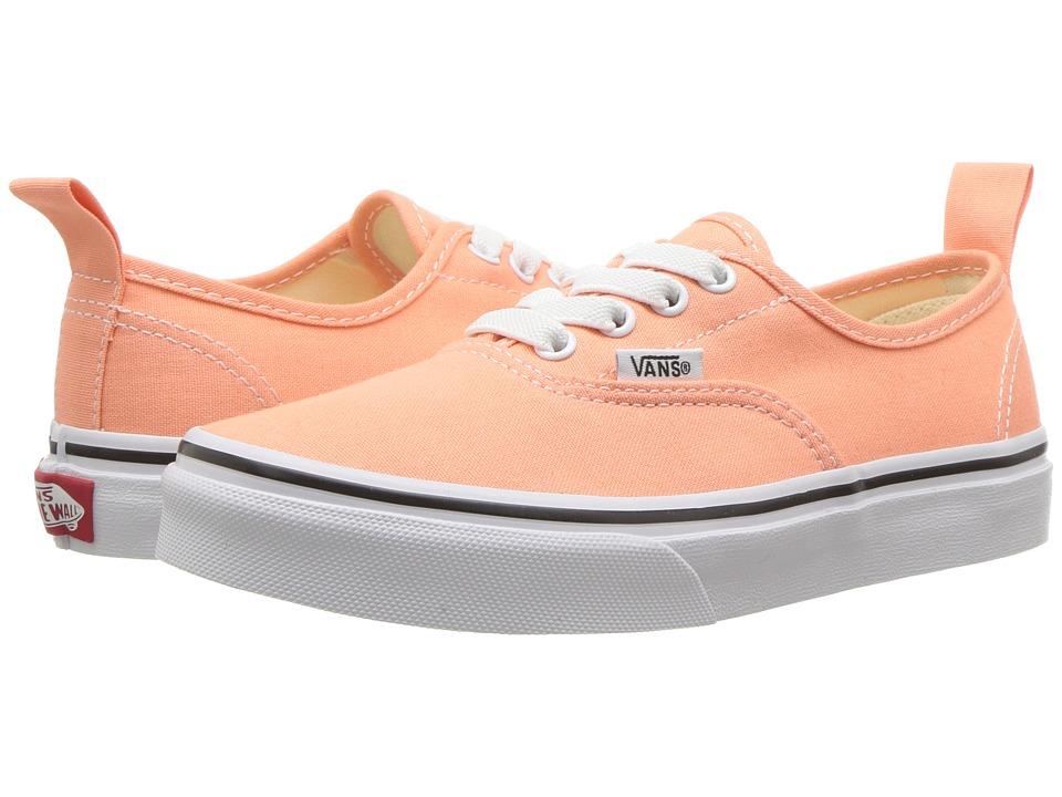 Vans Kids Authentic Elastic Lace (Little Kid/Big Kid) (Peach Pink/True White) Girls Shoes