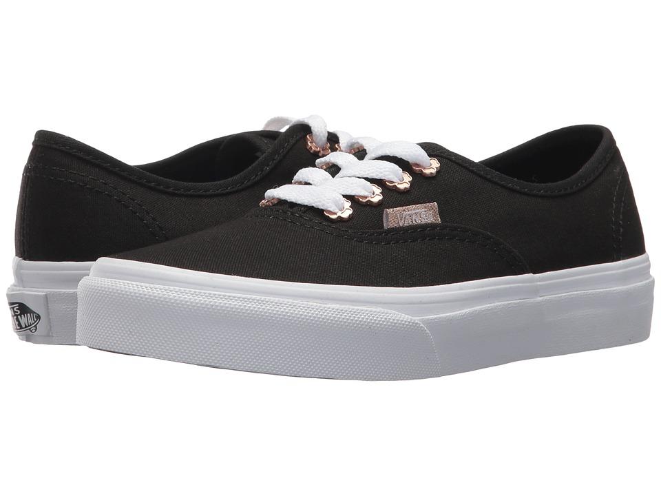 Vans Kids Authentic (Little Kid/Big Kid) ((Flower Eyelet) Black) Girls Shoes