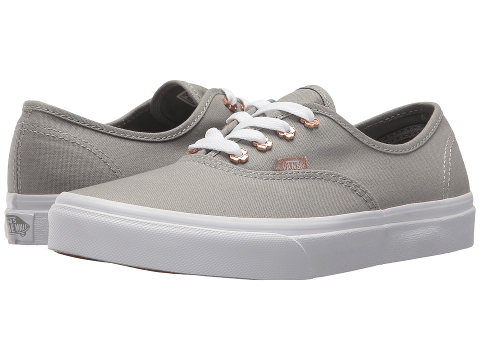 Vans Kids Authentic (Little Kid/Big Kid) ((Flower Eyelet) Drizzle) Girls Shoes