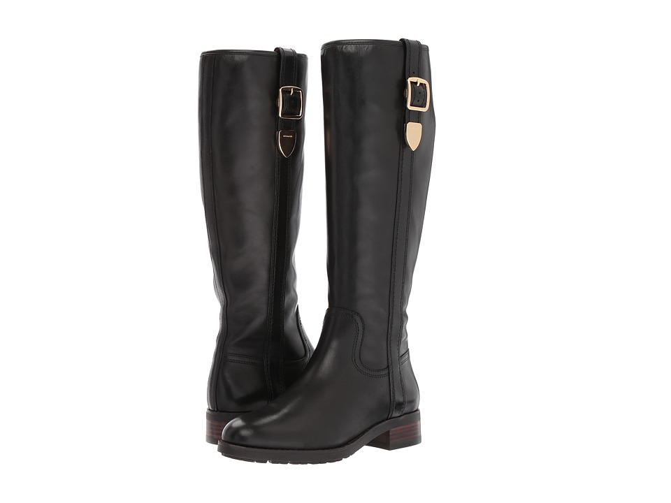 COACH - Easton (Black Semi Matte Calf) Women's Pull-on Boots