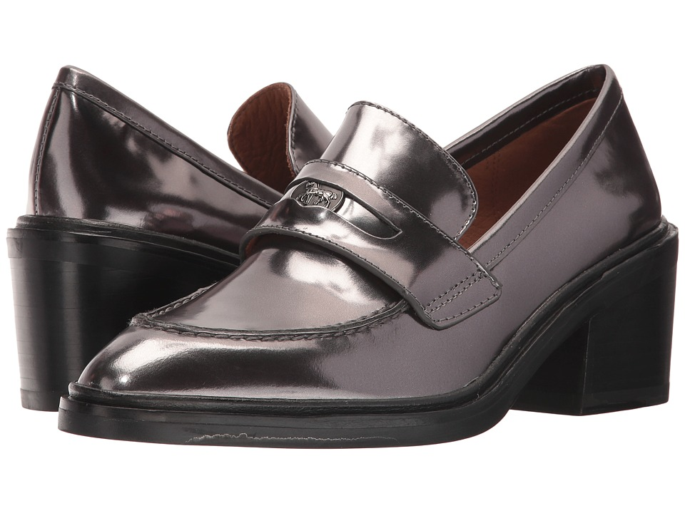 COACH - Heath (Gunmetal Mirror Metallic) Women's Slip-on Dress Shoes