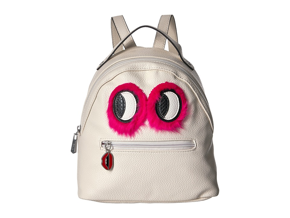 Circus by Sam Edelman - Eva Mini Backpack w/ Eye Applique (Ivory/Pink Fur Eyes) Backpack Bags