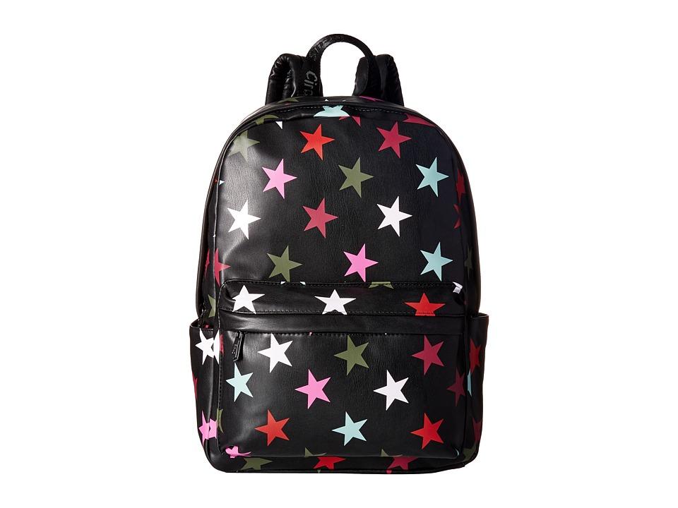 Circus by Sam Edelman Nora Star Print Backpack (Black/Multi Stars) Backpack Bags